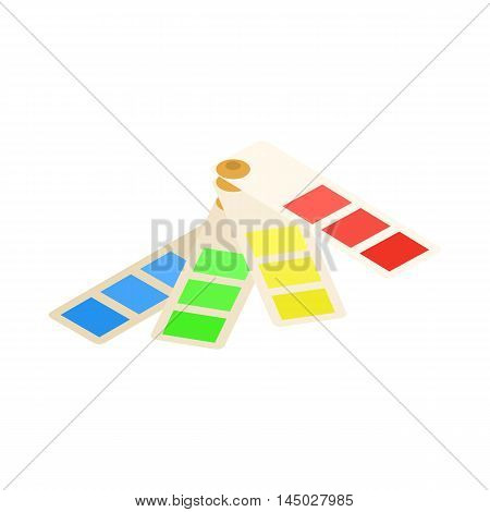 Color palette icon in cartoon style isolated on white background. Paint symbol