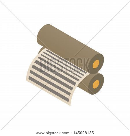 Platen for printing machines icon in cartoon style isolated on white background. Print symbol