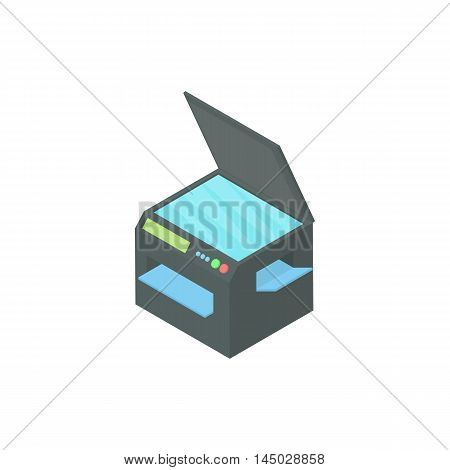 Printer 3 in 1 icon in cartoon style isolated on white background. Print symbol
