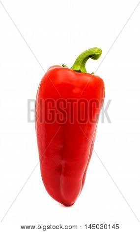 red pepper paprika isolated on white background