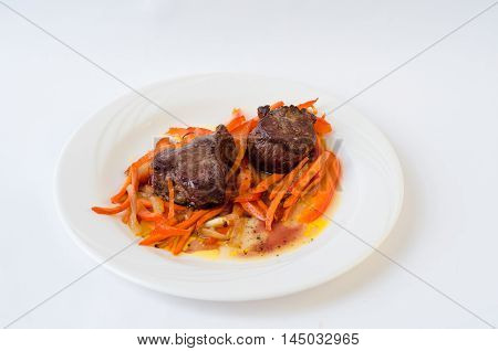 pork in sweet and sour sauce with vegetables