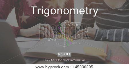 Education Trigonometry Mathematics Study Learning Concept