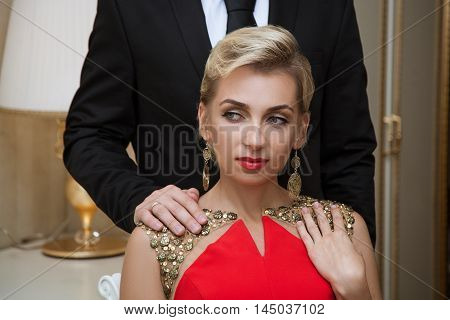 Man With Hand On His Lover's Shoulder