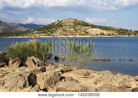 Navacerrada Reservoir . Madrid. Spain. Sierra de Guadarrama .