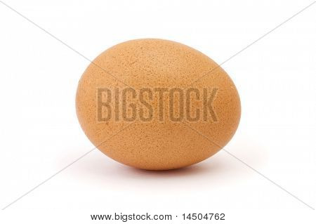 Single chicken egg isolated on white background
