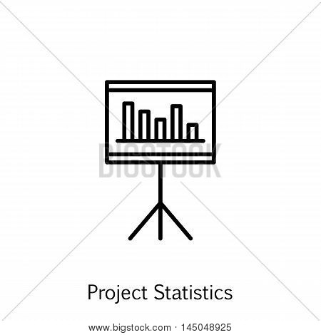 Vector Illustration Of Project Management Icon On Statistics And Management In Trendy Flat Style. Pr