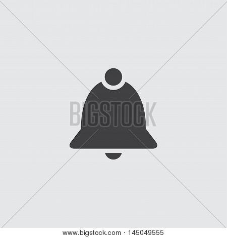 Bell icon in a flat design in black color. Vector illustration eps10