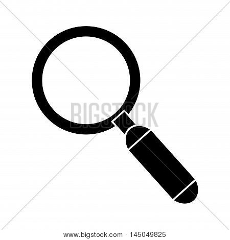lupe magnifying glass investigation and science tool instrument vector illustration