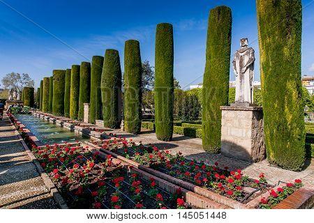 Cordoba or Cordova is a city of Andalusia southern Spain Alcazar de los Reyes Cristianos Gardens