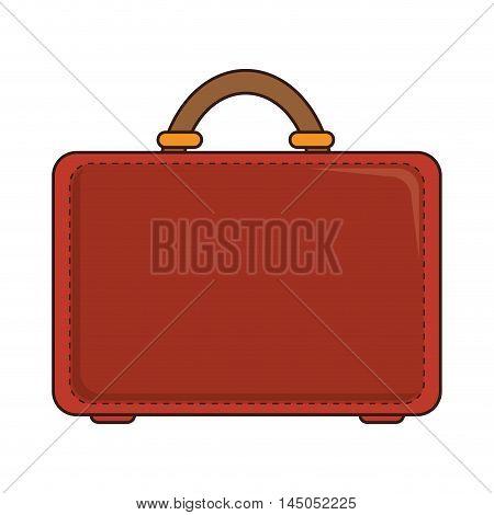 suitcase portfolio leather business bag handbag vector illustration