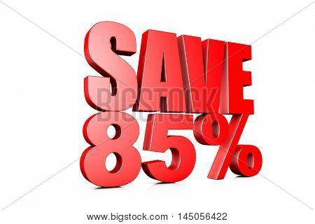 3d illustration save 85%