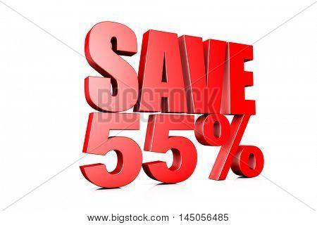 3d illustration save 55%