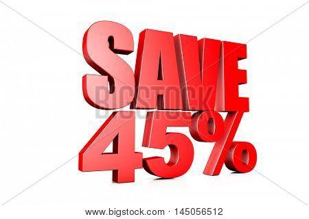 3d illustration save 45%