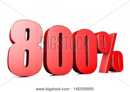 3d illustration sign of 800