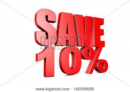 3d illustration save 10%