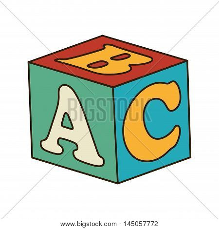 cube ABC blocks kids toy entertainment game vector illustration