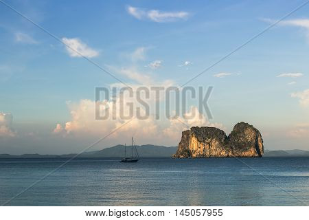 Boat And Koh Ma Island