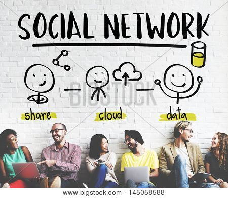 Global Communications Connection Social Media Networking Concept