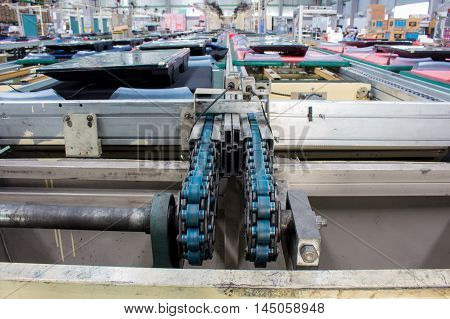 The Conveyor chain drive shaft in factory