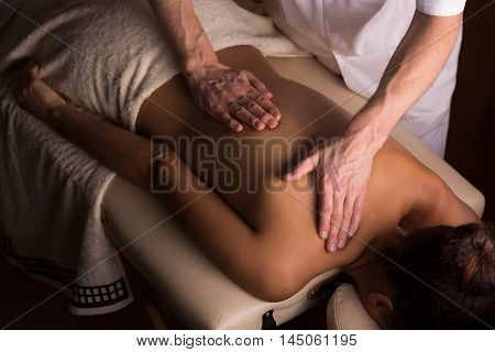 Gentle Hands Of An Experienced Masseur