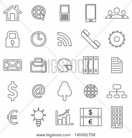 Business icons. Flat style finance icon. Vector illustration