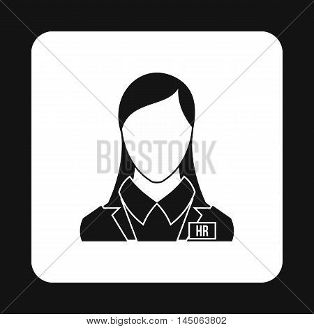 Hr manager icon in simple style on a white background