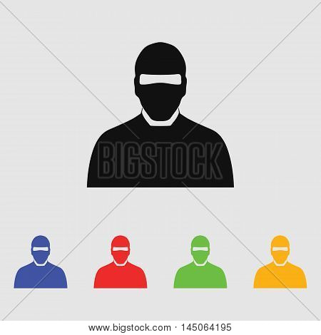 Man in mask Vector Icon for web and mobile