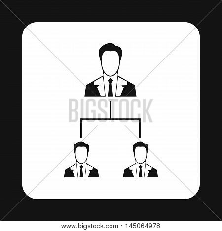 Company structure icon in simple style on a white background