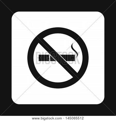 No smoking sign icon in simple style on a white background