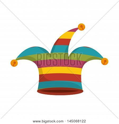 clown jester hat harlequin costume coloful accessory vector illustration