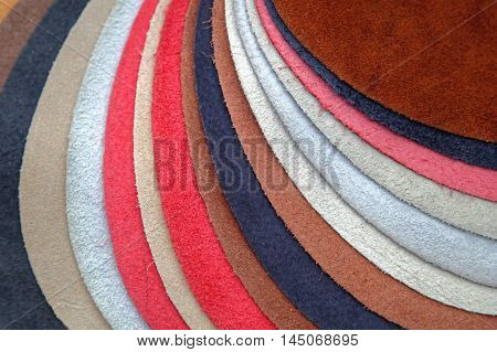 Leather Swatch in Various Colors for Furniture Industry