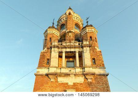 Gardos memorial Tower (Millennium Tower) in old town Zemun, part of Belgrade, Serbia