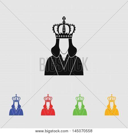 Queen  Vector Icon for web and mobile