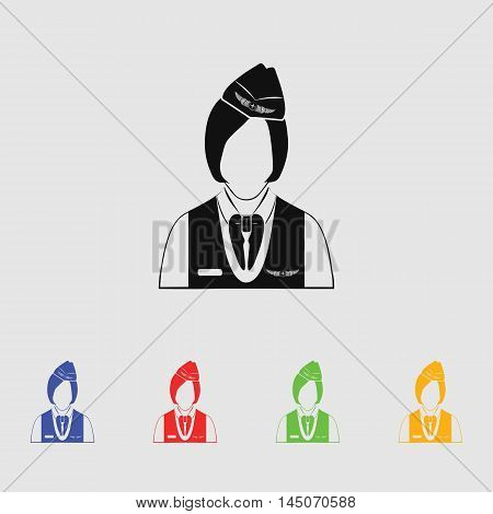Stewardess  Vector Icon for web and mobile