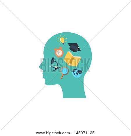 Education and learning isolated comcept vector illustration