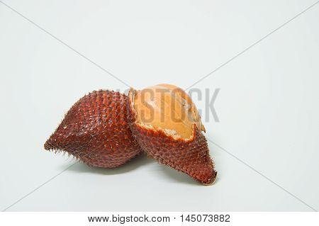 Salak fruit, Salacca zalacca  on the white background.