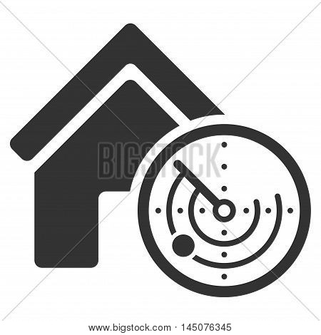 Realty Radar icon. Glyph style is flat iconic symbol, gray color, white background.