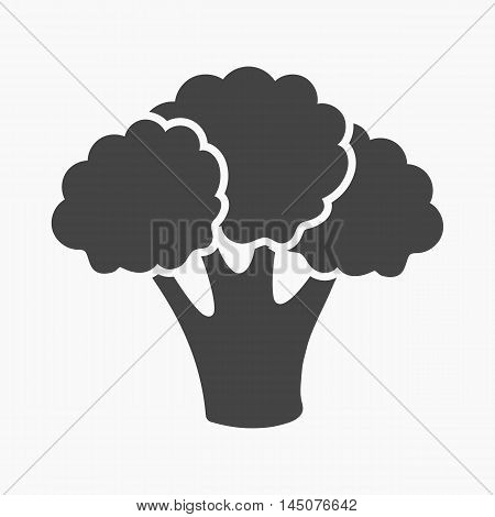 Broccoli icon cartoon. Singe vegetables icon from the eco food collection.