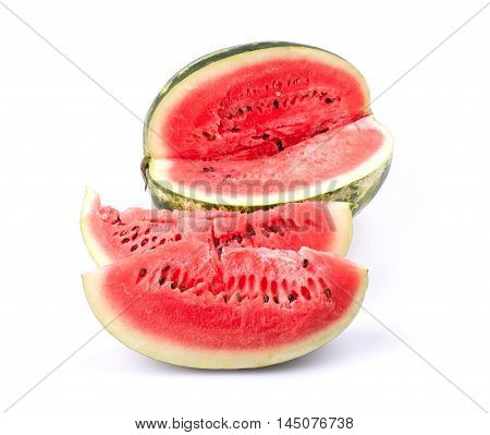 Sliced water melon isolated on white background.