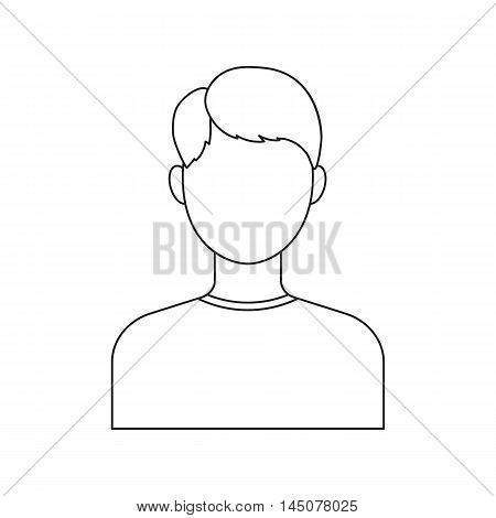 Boy icon line. Single avatar, peopleicon from the big avatar line.