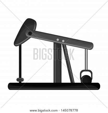 oil pump petroleum gasoline industry industrial icon. Flat and isolated design. Vector illustration
