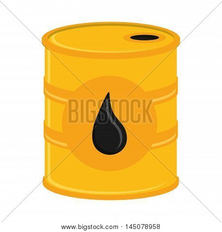 barrel drop petroleum gasoline oil industry industrial icon. Flat and isolated design. Vector illustration