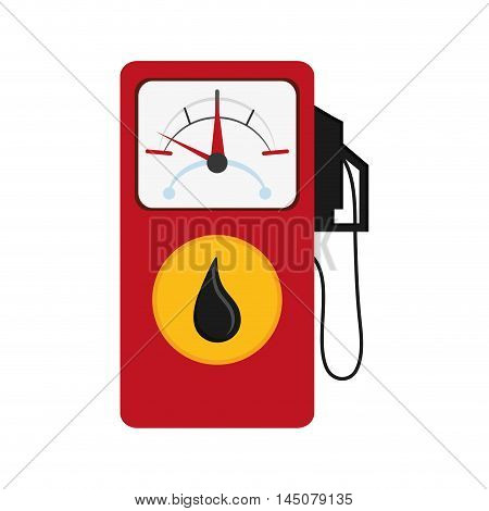 gauge pump petroleum gasoline oil industry industrial icon. Flat and isolated design. Vector illustration