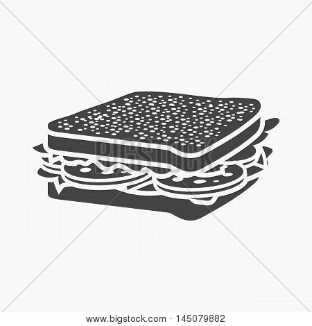 Sandwich vector illustration icon in simple design