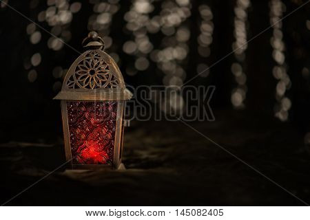 Eid and Ramadan theme backgrounds with lanterns and adornments and vibrant colored backgrounds