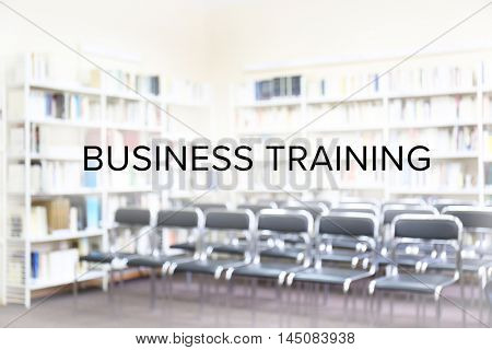 Business training concept. Modern library interior with chairs