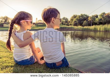 Kids Catching Fish