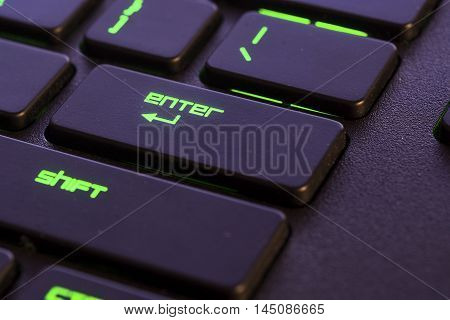 close up of a membrane keyboard of a desktop pc