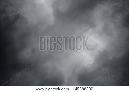Natural background of sky with dark thunderclouds