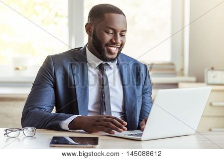 Handsome Afro American Businessman
